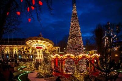 O iluminado Natal da Dinamarca