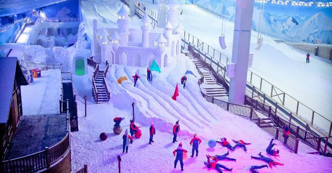Viajar com crianças Snowland