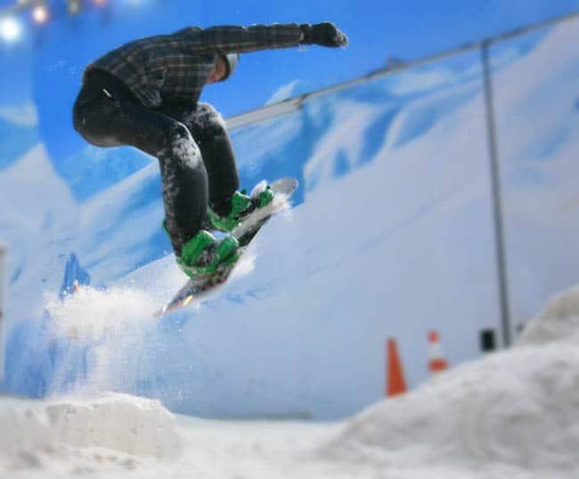 Parque Snowland Gramado snowboarding