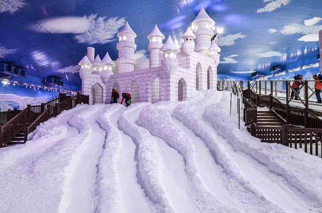 Parque Snowland Gramado castelo