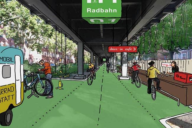 Berlim terá ciclovia coberta com hortas urbanas e pavimento que gera energia