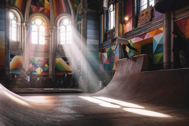 Igreja transformada em pista de skate