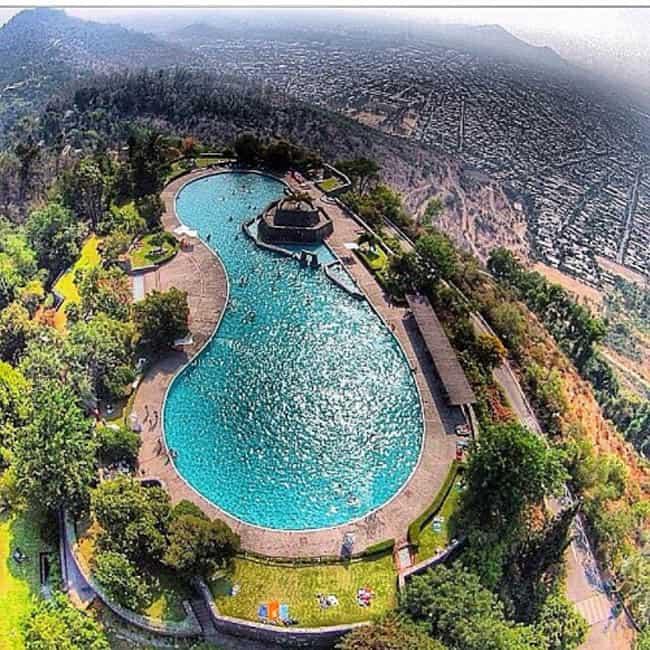 passeios diferentes em Santiago piscina antilen