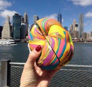 Os bagels coloridos da Bagel Store, em Nova York, vão te enlouquecer