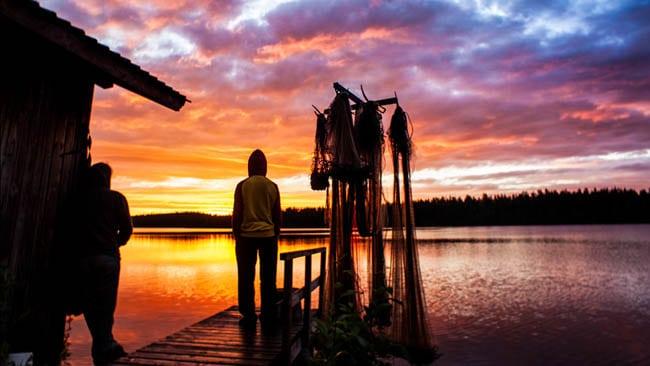 sol da meia noite na finlandia