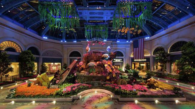 jardim botanico Bellagio-Las Vegas
