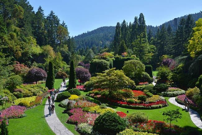 De beleza surreal, Jardins de Butchart é uma das melhores atrações do Canadá
