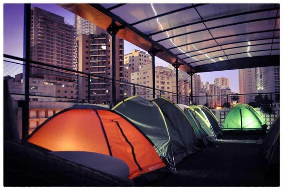 Qual tal acampar no topo de um prédio em SP?