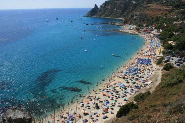 Baía de Grotticelle na Itália.