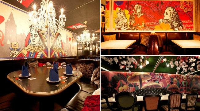 Alice no País das Maravilhas é tema de uma rede de restaurantes em Tóquio