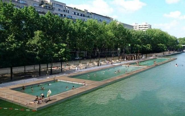 Neste verão, uma piscina natural será inaugurada no Rio Sena, em Paris