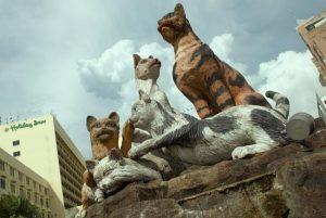 Conheça Kuching, a cidade asiática obcecada por gatos