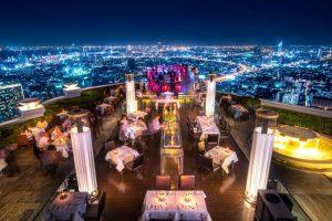 Sirocco Sky Bar tem rooftop com vista imperdível em Bangkok