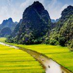 Tam Coc resguarda uma das paisagens mais lindas do Vietnã