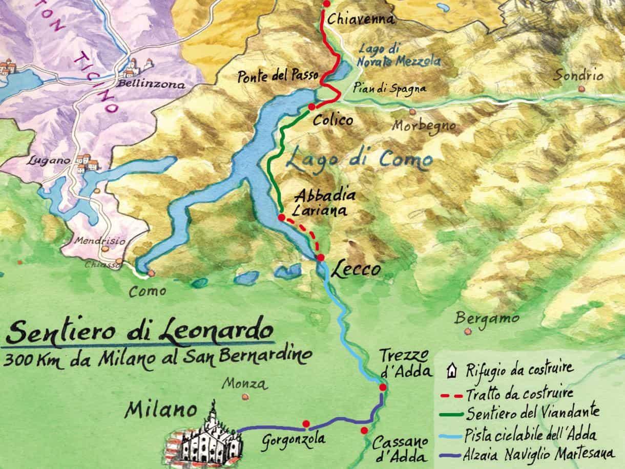 Do Duomo de Milão à Suíça: nasce a trilha de Da Vinci