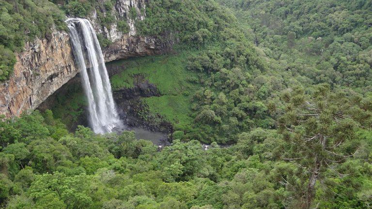 Parque do Caracol, em Canela, é um dos pontos mais visitados da região Sul
