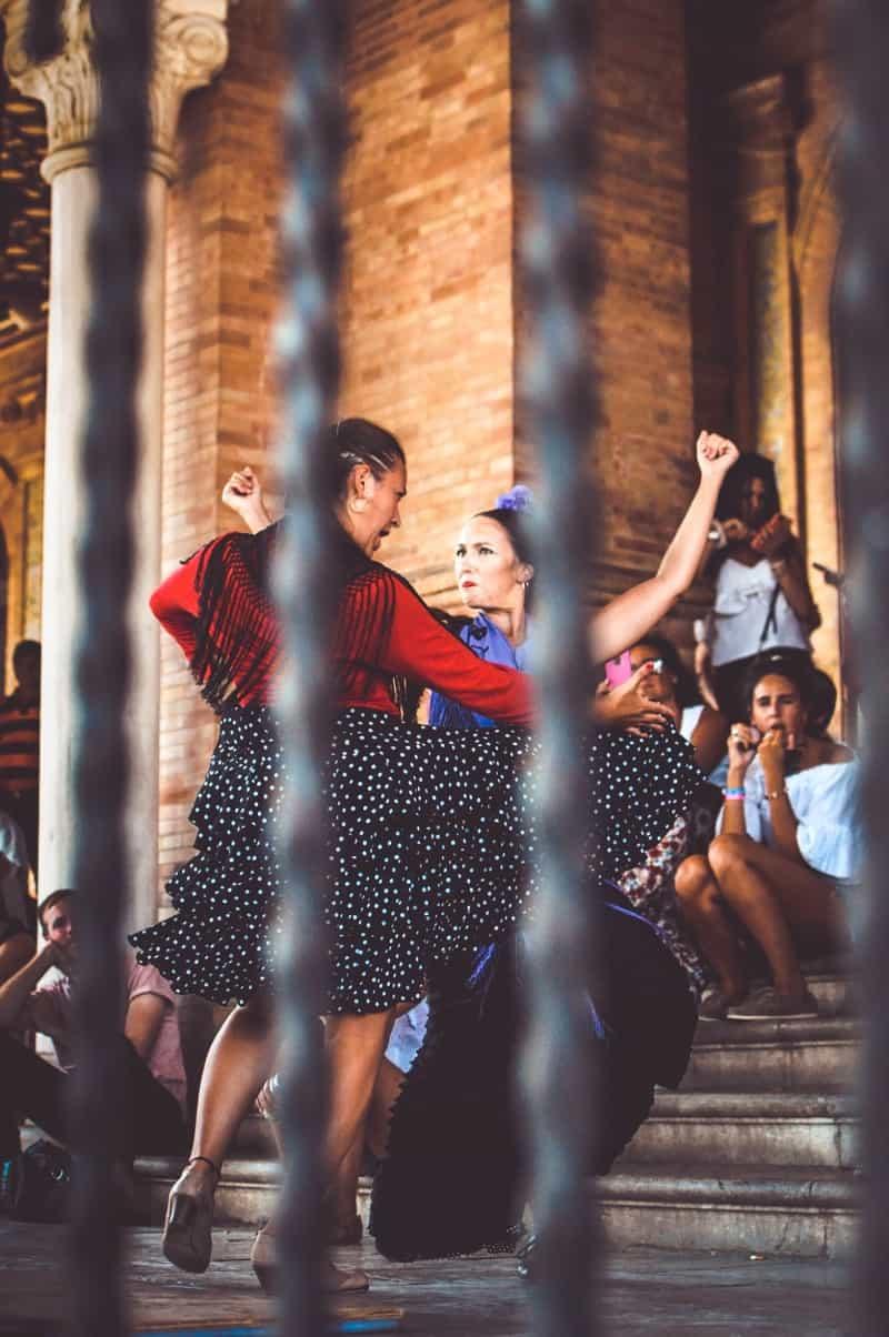 Dançarinos em Sevilha, na Espanha
