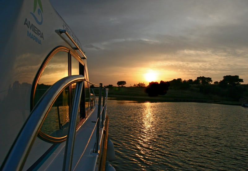 Barco no Lago Alqueva