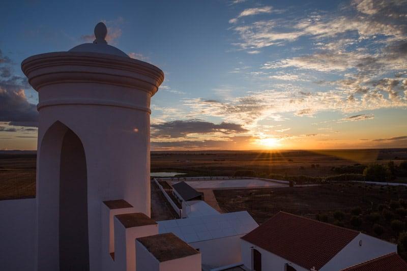 Pôr do sol na Torre de Palma