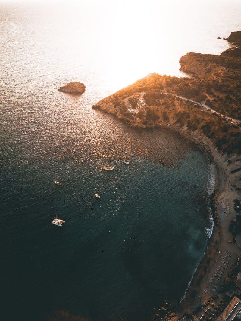 Ibiza vista do alto.