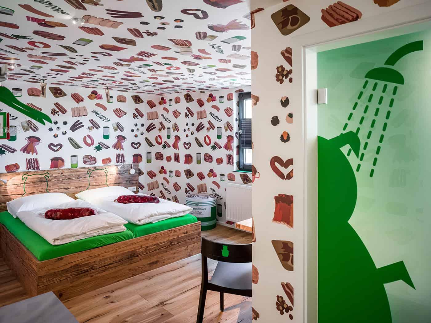 Este hotel temático de salsicha é o paraíso para quem gosta de uma linguiça