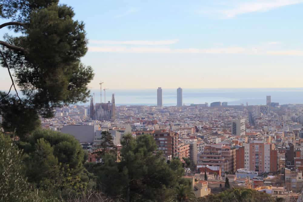 Vista do Parque Güell, em Barcelona