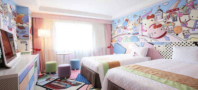 Explosão de fofura! Hospede-se em um quarto temático da Hello Kitty no Japão
