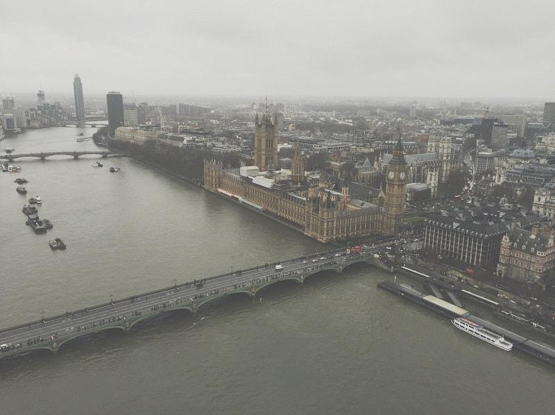 Vista aérea de Londres