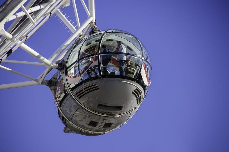Cápsula da London Eye vista de fora