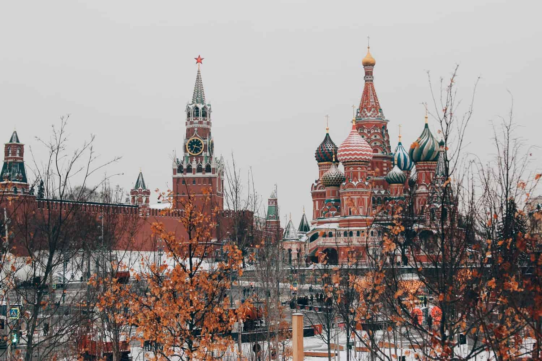 Kremlin durante o inverno.