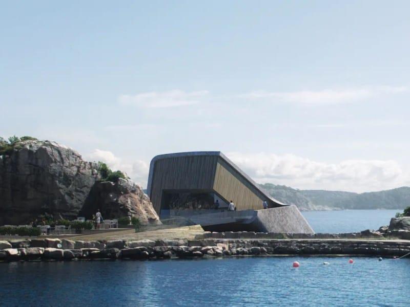 restaurante embaixo d'água noruega