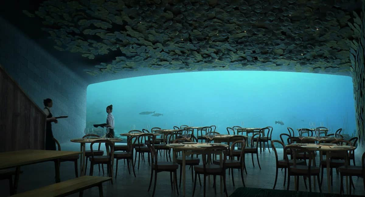 Conheça o Under, primeiro restaurante embaixo d'água inaugurado na Noruega