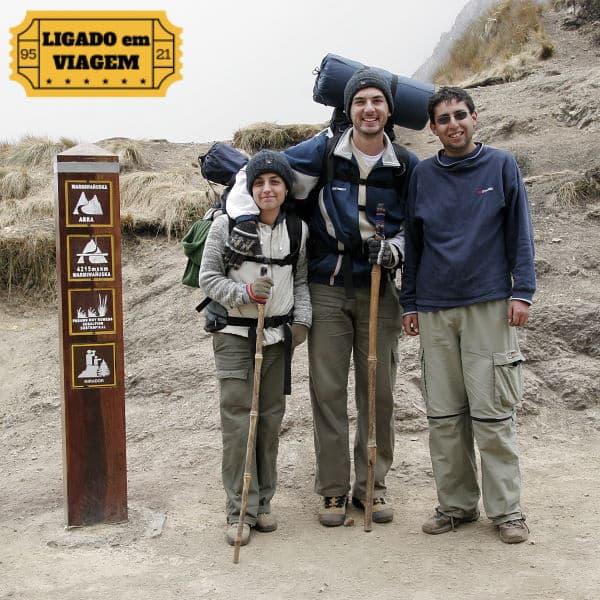 Podcasts sobre viagem: Edson, a esposa Viviane e o guia da trilha inca que os levou até Machu Picchu