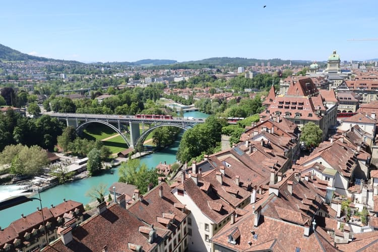 Vista aérea de Berna. Foto: Carol Jeng