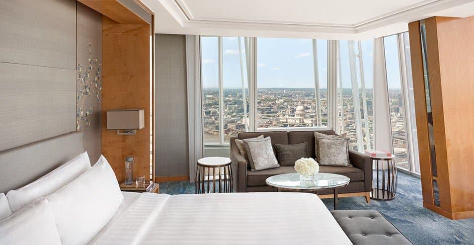 Os quartos do Shangri-la possuem vista panorâmica de Londres