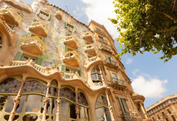 Fachada da Casa Batlló em Barcelona