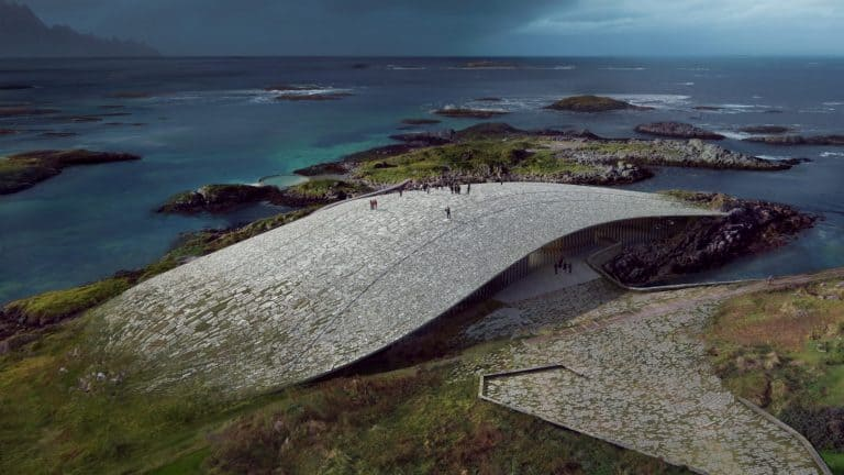 Museu semi-submerso propõe observação de baleias naNoruega
