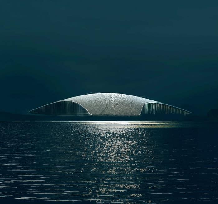 As baleias da Noruega são inspiração para o museu, embora ainda sejam alvo de caçadores - Foto: divulgação/Dorte Mandrup