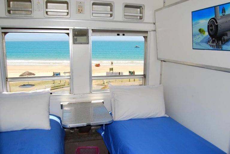 Hospedagem em trem à beira-mar na África do Sul é um verdadeiro sonho!