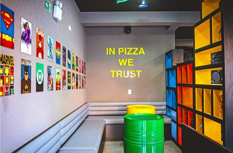 liga dos heróis pizzaria