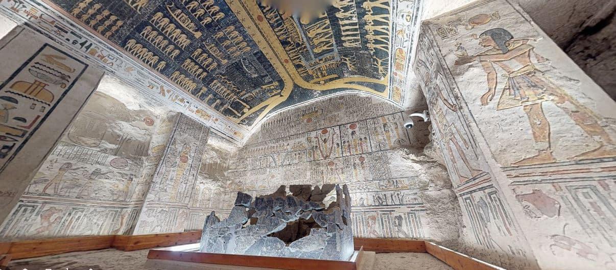 Egito libera tour virtual em túmulo defaraó e outras atrações