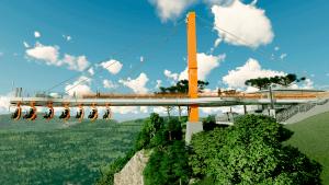 SkyGlass Ferradura: ponte de vidro em Canela tem 360 metros de altura e trilho com cadeiras suspesas