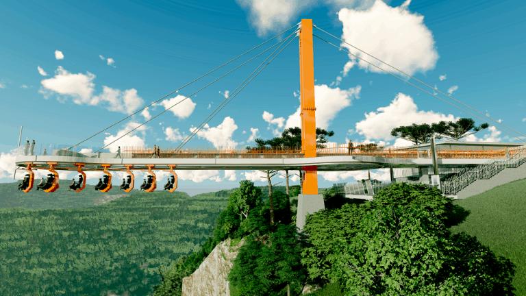 SkyGlass Ferradura: ponte de vidro em Canela terá 360 metros de altura