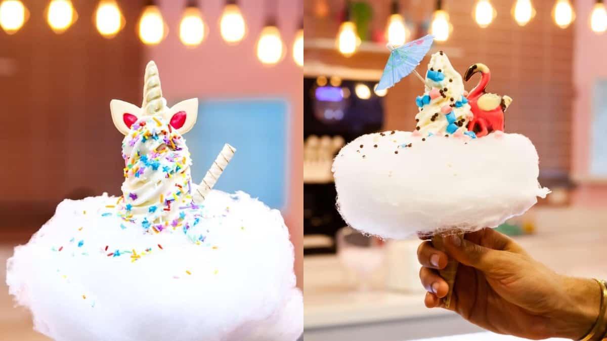 Dona Nuvem em SP e BH tem sorvetes com algodão doce, dinossauros e unicórnios
