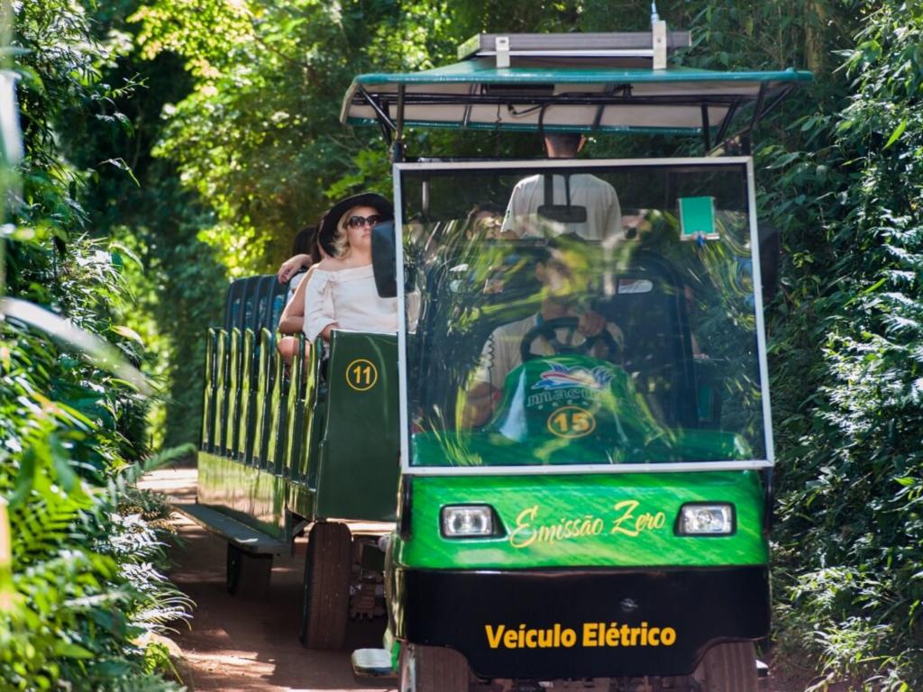 O passeio Macuco Safari Selva é uma chance de conhecer a fauna e flora da região.