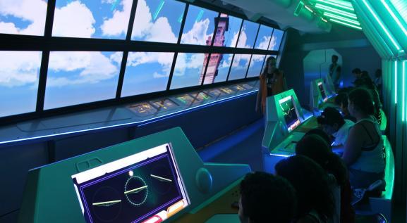 Aventura no Sistema Solar é uma parte interativa do Museu Catavento