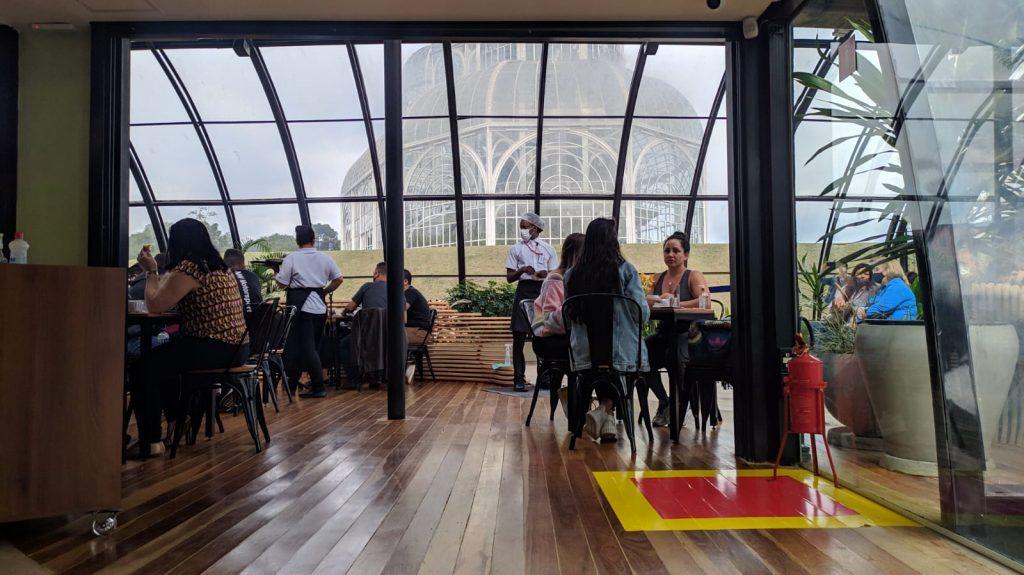 Interior do Café no Jardim Botânico