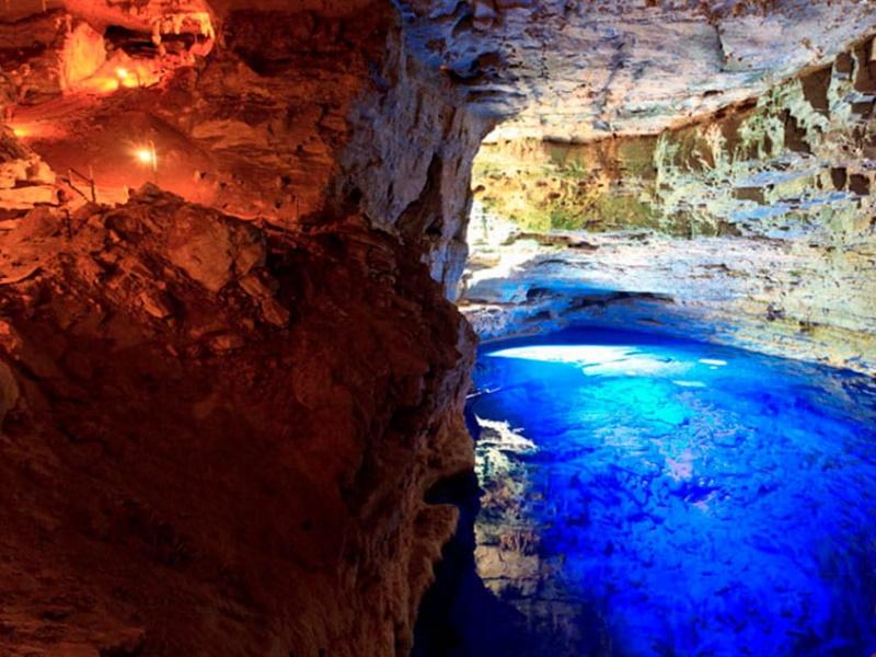 poço azul e poço encantado