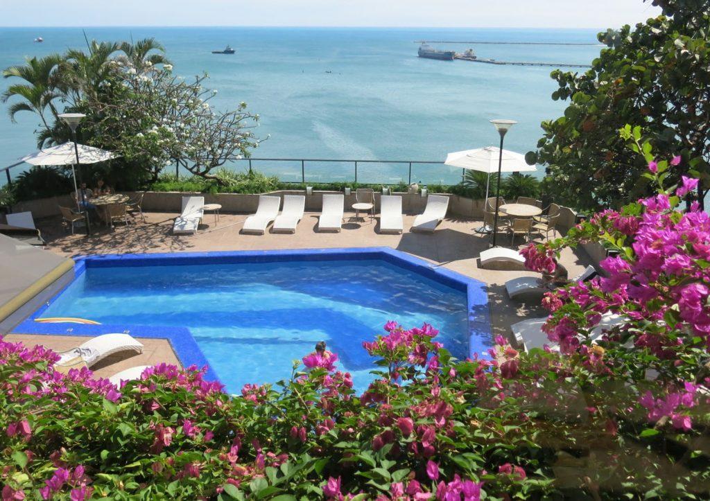 Vista da piscina da hospedagem em Fortaleza/Foto:Divulgação Hotel Gran Marquise