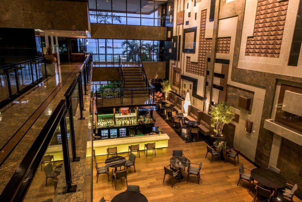 Lobby hospedagem em Fortaleza /Foto:Divulgação Hotel Gran Marquise